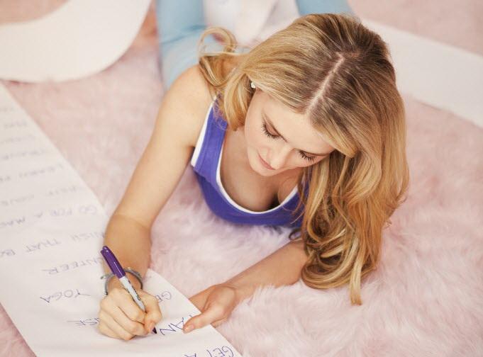 Распишите свои цели на бумаге.