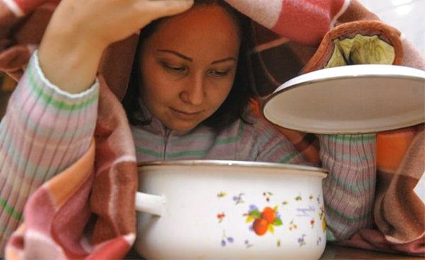дышать над картошкой - лечение простуды